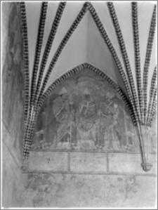 Lidzbark Warmiński. Zamek biskupów warmińskich. Wnętrze, refektarz. Malowidło ścienne