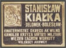 Tablica poświęcona Stanisławowi Kiałce