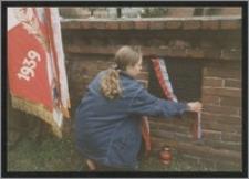 Odsłonięcie tablicy pamiątkowej poświęconej Stanisławowi Kiałce przez jego wnuczkę w kościele garnizonowym św. Elżbiety we Wrocławiu