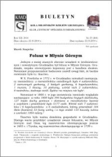 Biuletyn Koła Miłośników Dziejów Grudziądza 2014, Rok XII, nr 29(404): Folusz w Młynie Górnym