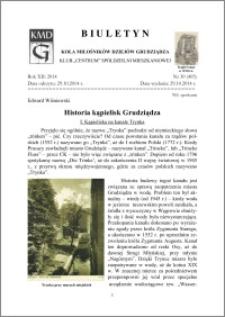 Biuletyn Koła Miłośników Dziejów Grudziądza 2014, Rok XII, nr 30(405): Historia kąpielisk Grudziądza