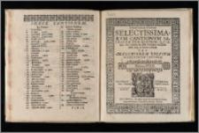 Opusculum Novum Selectissimarvm Cantionvm Sacrarum Cum Qvatuor, Qvinque, sex, septem & octo Vocibus. Octava vox