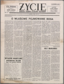 Życie : katolicki tygodnik religijno-kulturalny 1952, R. 6 nr 18 (254)