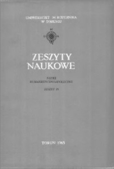 Zeszyty Naukowe Uniwersytetu Mikołaja Kopernika w Toruniu. Nauki Humanistyczno-Społeczne. Nauka o Książce, z. 3 (13), 1965