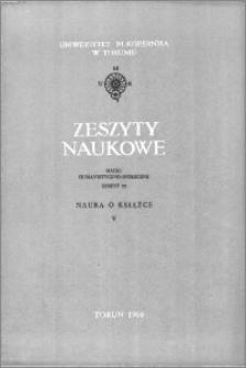 Zeszyty Naukowe Uniwersytetu Mikołaja Kopernika w Toruniu. Nauki Humanistyczno-Społeczne. Nauka o Książce, z. 5 (29), 1964