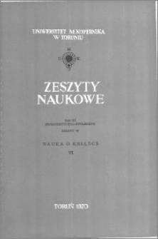 Zeszyty Naukowe Uniwersytetu Mikołaja Kopernika w Toruniu. Nauki Humanistyczno-Społeczne. Nauka o Książce, z. 6 (39), 1970