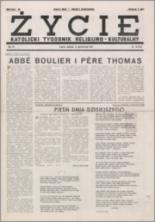 Życie : katolicki tygodnik religijno-kulturalny 1950, R. 4 nr 43 (174)
