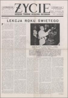 Życie : katolicki tygodnik religijno-kulturalny 1951, R. 5 nr 4 (188)