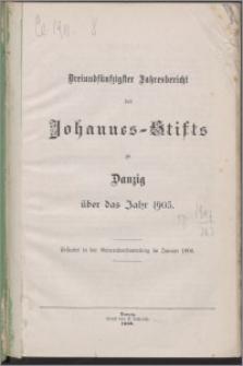 Jahresbericht des Johannes-Stifts zu Danzig über das Jahr 1905, 53