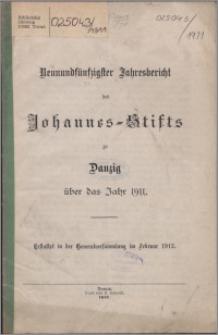 Jahresbericht des Johannes-Stifts zu Danzig über das Jahr 1911, 59