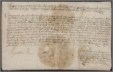 August II król polski zezwala Antoniemu Kiełpszowi na cesję dóbr Dulkie z folwarku Pusitgiszki w księstwie żmudzkim, pow. wilkijskim na rzecz starosty saskiego Szymona Zabiełły