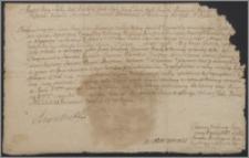 August II król polski zezwala Mariannie z Eysmontów Remerowej wojskiej wiłkomirskiej zrezygnować z dożywocia na starostwie żosielskim w woj. trockim na rzecz Mateusza Remera jej syna