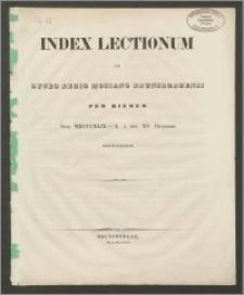 Index Lectionum in Lyceo Regio Hosiano Brunsbergensi per hiemem anni MDCCXLIX - L a die XV Octobris