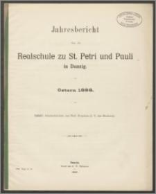 Jahresbericht über die Realschule zu St. Petri und Pauli in Danzig. Ostern 1898