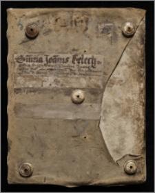 Zbiór traktatów z zakresu prawa kanonicznego, filozofii i teologii (m. in. Ioannes Beleth, Summa de ecclesiasticis officiis, k. 1r-43v; Innocentius papa III, De sacro altaris mysterio, k. 44r-88v; medytacje pasyjne, k. 134v-137v).