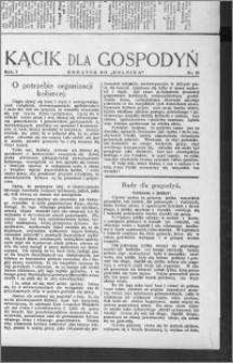 Kącik dla Gospodyń 1930, R. 1, nr 18