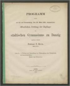 Programm womit zu der auf Donnerstag, den 30. März 1871, angesetzten öffentlichen Prüfung der Zöglinge des städtischen Gymnasiums zu Danzig