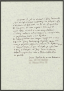 Oświadczenie Ireny Bartkowskiej