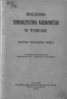 Roczniki Towarzystwa Naukowego w Toruniu, R. 33, (1926)