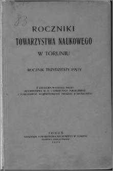 Roczniki Towarzystwa Naukowego w Toruniu, R. 35, (1929)