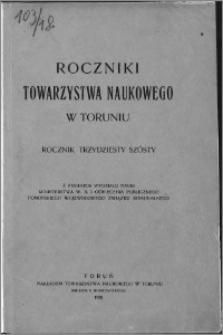 Roczniki Towarzystwa Naukowego w Toruniu, R. 36, (1930)