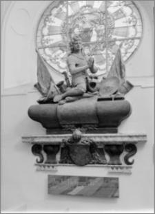 Konice (Czechy, Morawy). Kościół farny, wnętrze kaplicy północnej. Nagrobek Jzi Hoffmanna autorstwa Baltazara Fontany