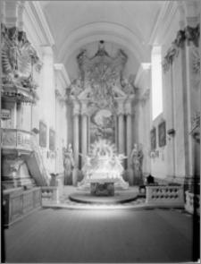 Polešovice (Czechy, Morawy). Kościół parafialny (filialny). Ołtarz główny, autorstwa Baltazara Fontany