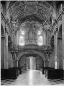 Svatý Kopeček k. Ołomuńca (Morawy, Czechy). Bazylika Mniejsza Nawiedzenia Maryi Panny. Wnętrze-widok na chór autorstwa Baltazara Fontany