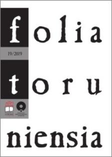 Folia Toruniensia 19 (2019)
