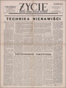 Życie : katolicki tygodnik religijno-kulturalny 1951, R. 5 nr 34 (218)