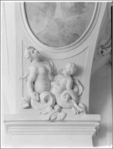 Kromieryż (Czechy, Morawy). Pałac Arcybiskupi (zamek). Sala Terrena. Dekoracje rzeźbiarskie autorstwa Baltazara Fontany