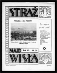 Straż nad Wisłą 1937, R. 7, nr 20