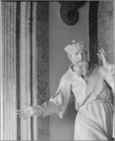 """Ołomuniec (Morawy, Czechy). Klasztor Hradisko. Sala ceremonialna. Wnętrze. Grupa """"Samuel wita Saula"""" aut. J. A. Winterhaldera - fragment"""