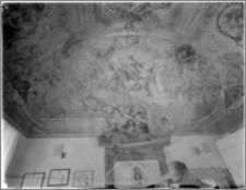 Ołomuniec (Morawy, Czechy). Klasztor Hradisko. Biblioteka. Wnętrze - fragment