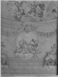 Ołomuniec (Morawy, Czechy). Klasztor Hradisko. Biblioteka. Wnętrze. Fresk na suficie - fragment