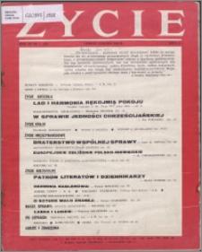 Życie : katolicki miesięcznik społeczno-kulturalny 1958, R. 12 nr 1 (550)