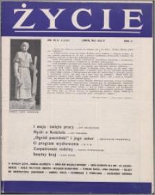Życie : katolicki miesięcznik społeczno-kulturalny 1958, R. 12 nr 5 (554)