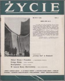 Życie : katolicki miesięcznik społeczno-kulturalny 1958, R. 12 nr 7 (556)