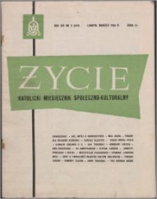 Życie : katolicki miesięcznik społeczno-kulturalny 1959, R. 13 nr 3 (564)