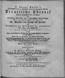 Preussische Chronik. Bd. 8
