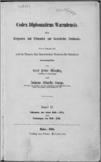 Codex diplomaticus Warmiensis oder Regesten und Urkunden zur Geschichte Ermlands. Bd. 2, Urkunden der Jahre 1341-1375 nebst Nachträgen von 1240-1340