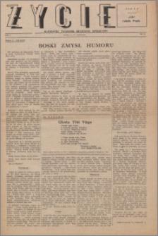 Życie : katolicki tygodnik religijno-społeczny 1947, R. 1 nr 21