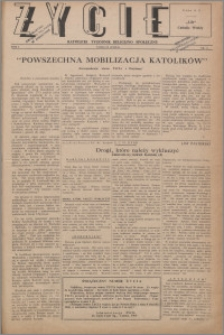 Życie : katolicki tygodnik religijno-społeczny 1947, R. 1 nr 31