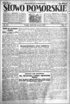 Słowo Pomorskie 1927.06.25 R.7 nr 143