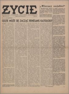 Życie : katolicki tygodnik religijno-społeczny 1949, R. 3 nr 5 (84)