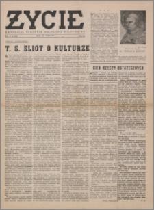 Życie : katolicki tygodnik religijno-społeczny 1949, R. 3 nr 10 (89)