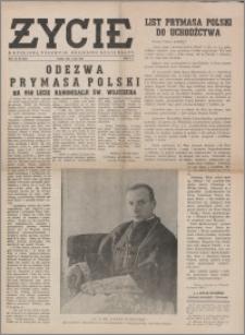 Życie : katolicki tygodnik religijno-społeczny 1949, R. 3 nr 18 (97)