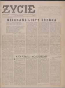 Życie : katolicki tygodnik religijno-społeczny 1949, R. 3 nr 26 (105)
