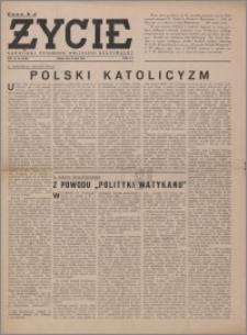 Życie : katolicki tygodnik religijno-społeczny 1949, R. 3 nr 30 (109)