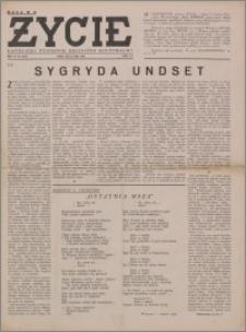Życie : katolicki tygodnik religijno-społeczny 1949, R. 3 nr 31 (110)